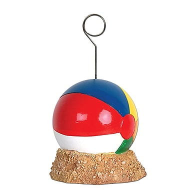 Beistle 6 oz. Beach Ball Photo/Balloon Holder, 3/Pack