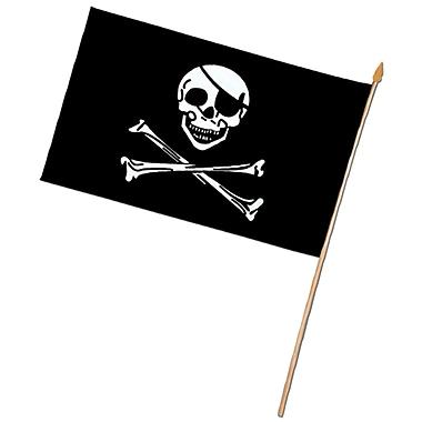 Petit drapeau de pirate en rayonne, 4 x 6 po, 13/paquet