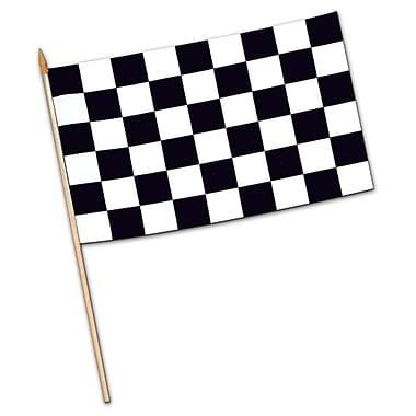 Small Checkered Rayon Flag, 4