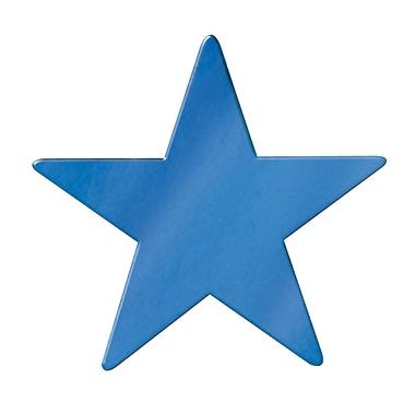 Découpe d'étoile géante en aluminium, 20 po, bleu, paquet de 5