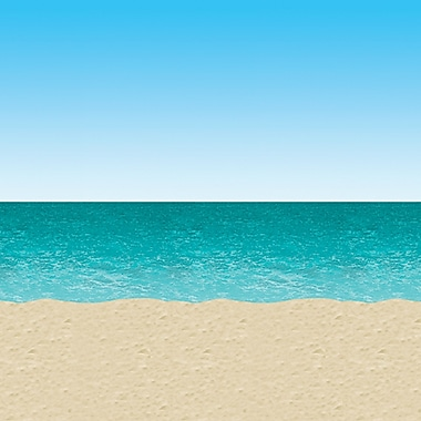 Beistle 4' x 30' Ocean and Beach Backdrop