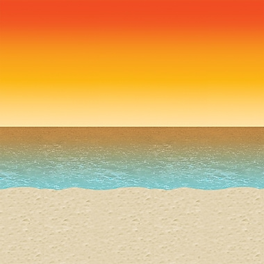 Beistle 4' x 30' Luau Sunset Backdrop