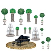 "Beistle 13 1/4"" - 3' 10 1/2"" Black Tie Piano and Decor Props, 30/Pack"