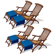 Beistle 3' 4 & 3' 9 Cruise Ship Deck Chair Props, 8/Pack