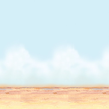 Beistle 4' x 30' Desert Sky and Sand Backdrop