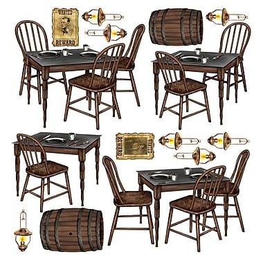 Accessoires table de saloon, entre 10 po et 3 pi 3 po, 30/paquet