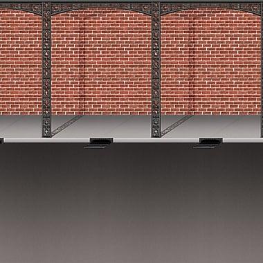 Mardi Gras Brick Wall & Street Backdrop, 4' x 30'