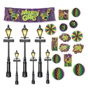 "Beistle 8"" - 46"" Mardi Gras Decor and Street Light Props, 42/Pack"