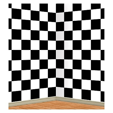 Checkered Backdrop, 4' x 30'