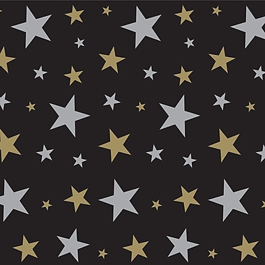 Beistle 4' x 30' Gold Star Backdrop