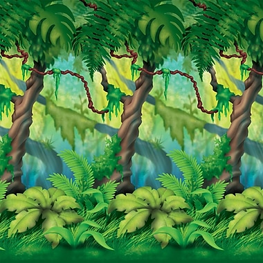 Beistle 4' x 30' Jungle Trees Backdrop