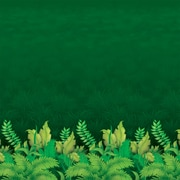 Beistle 4' x 30' Jungle Foliage Backdrop