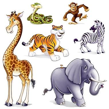 Accessoires animaux de la jungle, entre 15 po et 5 pi 3 po, 2/paquet