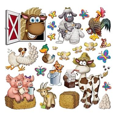 Accessoires de décoration animaux de la ferme, entre 2 1/4 po et 35 po, 46/paquet
