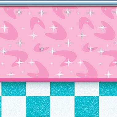 50's Soda Shop Backdrop, 4' x 30'