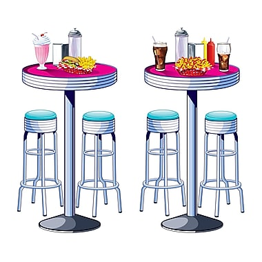 Beistle Soda Shop Tables & Stools Prop, 5' 3
