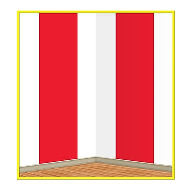 Beistle 4' x 30' Red and White Stripes Backdrop