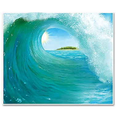 Beistle 5' x 6' Surf Wave InstaMural Wall Decoration, 2/Pack