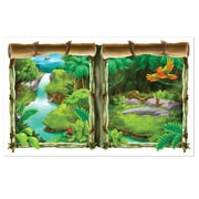 "Beistle 3' 2"" x 5' 2"" Jungle Backdrop, 2/Pack"