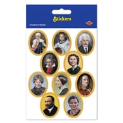 "Beistle 4 3/4"" x 7 1/2"" Faces In History Sticker, 28/Pack"