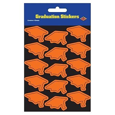 Autocollants de mortiers, 4 3/4 x 7 1/2 po, orange, paquet de 28