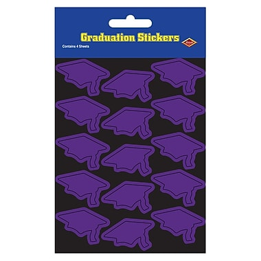 Grad Cap Stickers, 4-3/4