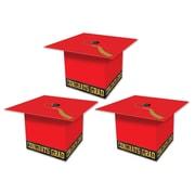 "Beistle 3 1/4"" x 3 1/4"" Grad Cap Favor Box, Red, 9/Pack"