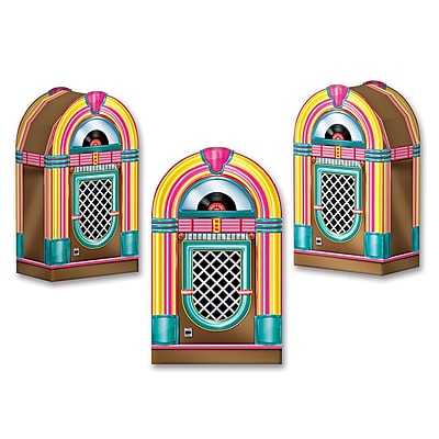 """""Beistle Jukebox Favor Box, 3 1/2"""""""" x 6"""""""", 9/Pack"""""" 1067577"