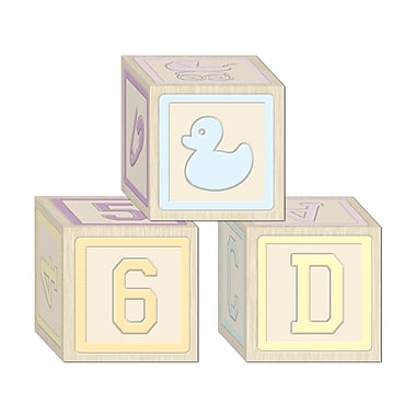 Baby Blocks Favor Boxes, 3-1/4