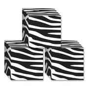 "Beistle 3 1/4"" x 3 1/4"" Zebra Print Favor Box, 12/Pack"
