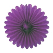 "Beistle 6"" Mini Tissue Fan, Purple, 18/Pack"