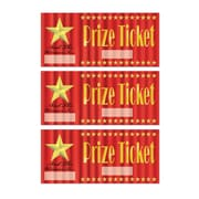 "Beistle 2 3/8"" x 5"" Prize Tickets, 150/Pack"