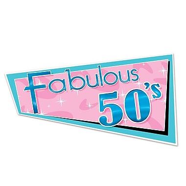 Beistle Fabulous 50s Cutouts, 16