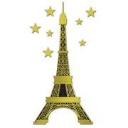"""Beistle 5' 10 1/2"""" Jointed Foil Eiffel Tower, 2/Pack"""