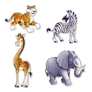 Jungle Animal Cutouts, 15-1/2