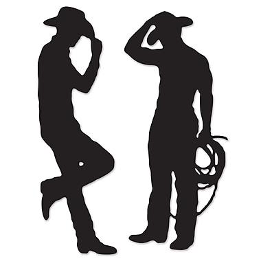 Silhouettes de cowboy, 35 po et 37 po, 6/paquet