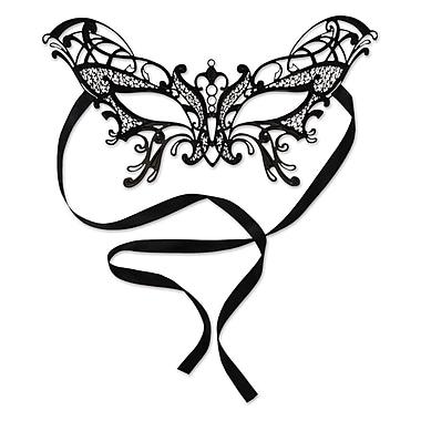 Masque de mascarade en filigrane métallique de style papillon, taille unique