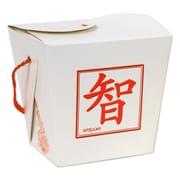 Beistle Asian Favor Box Quart, White/Red, 6/Pack