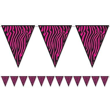 Zebra Print Pennant Banner, 10