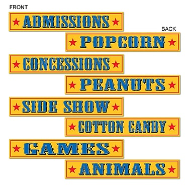Circus Sign Cutouts, 4