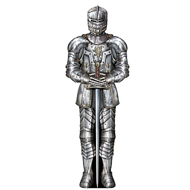 Beistle 3' Suit Of Armor Cutouts, 5/Pack