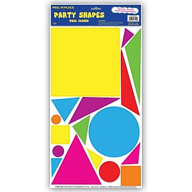 Beistle Party Shapes Peel 'N Place, 12