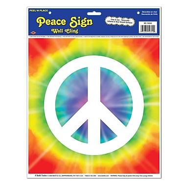 Beistle Peace Sign Peel 'N Place, 12