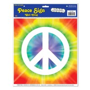 """Beistle Peace Sign Peel 'N Place, 12"""" x 15"""", 5/Pack"""