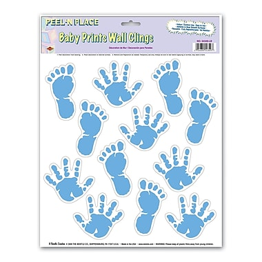 Light Blue Baby Prints Peel 'N Place, 12