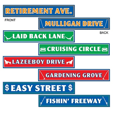 Retirement Street Sign Cutouts, 4