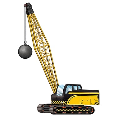 Jointed Crane With Wrecking Ball, 3' 2