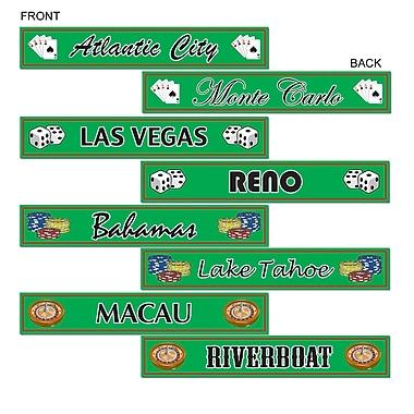 Gambling Destination Street Sign Cutouts, 4
