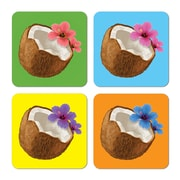 Beistle 3 1/2 Coconut Coasters, Assorted, 32/Pack