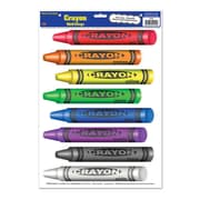 "Beistle 12"" x 17"" Crayons Peel 'N Place Sticker, 24/Pack"